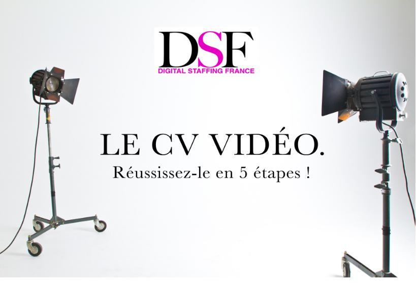 DSF France conseil candidats Réussir son CV vidéo