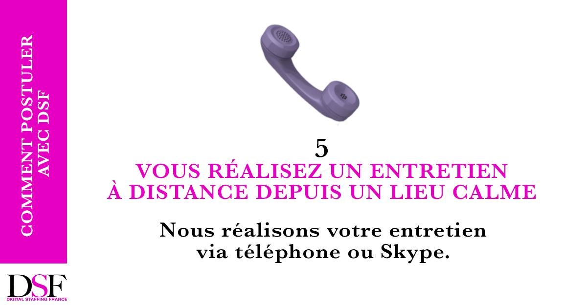 DSF France Trouvez un emploi en 7 étapes entretien à distance