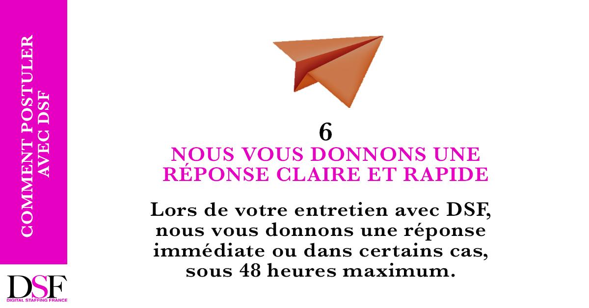 DSF France Trouvez un emploi en 7 étapes revecez une réponse claire et rapide