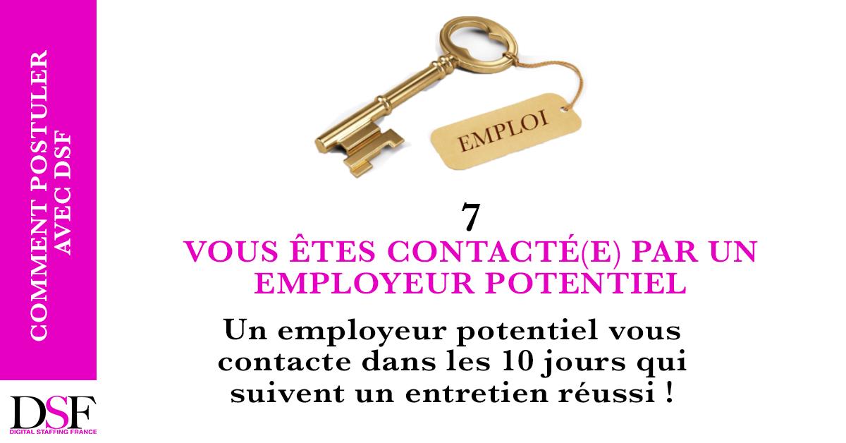 DSF France Trouvez un emploi en 7 étapes vous êtes contacté par un employeur sous 10 jours